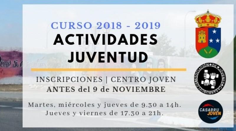 Actividades Juventud Casarrubuelos 2018 - 2019