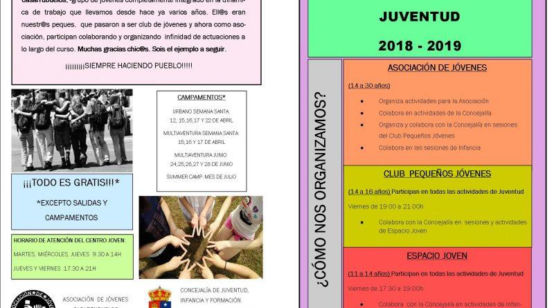 Actividades municipales JUVENTUD 2018-2019 Casarrubuelos 2