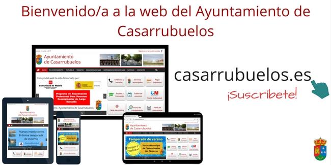 Imagen bienvenida al Portal Web del Ayuntamiento de Casarrubuelos