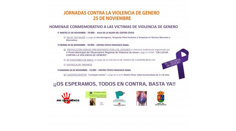 Jornadas violencia genero 2017 Casarrubuelos