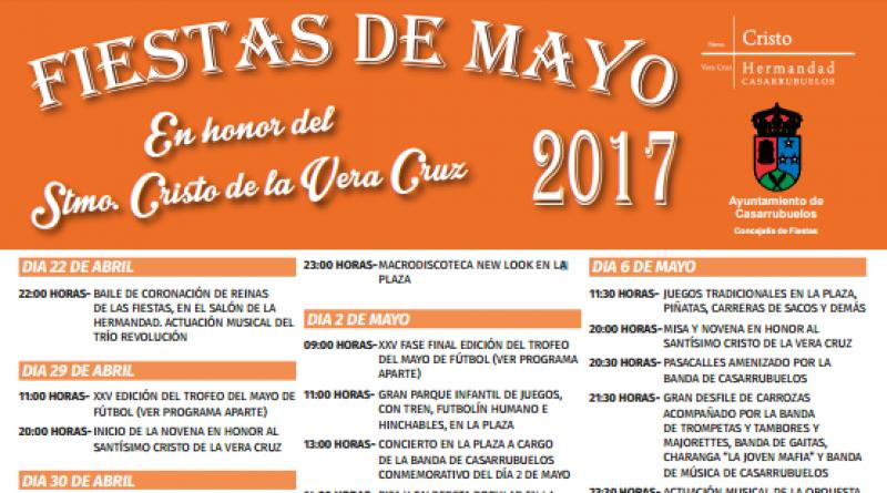Cartel de las fiestas de mayo de 2017