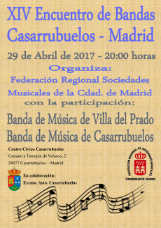 Encuentro de Bandas en Casarrubuelos el 29 de Abril