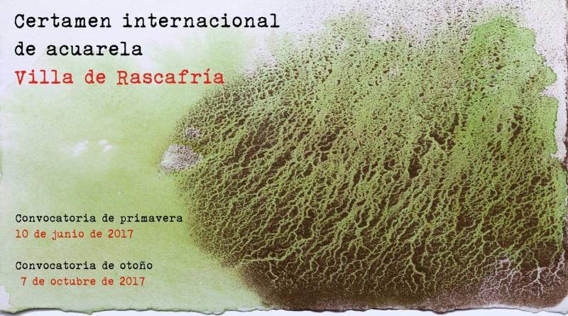 Cartel certamen internacional de acuarela Villa de Rascafría