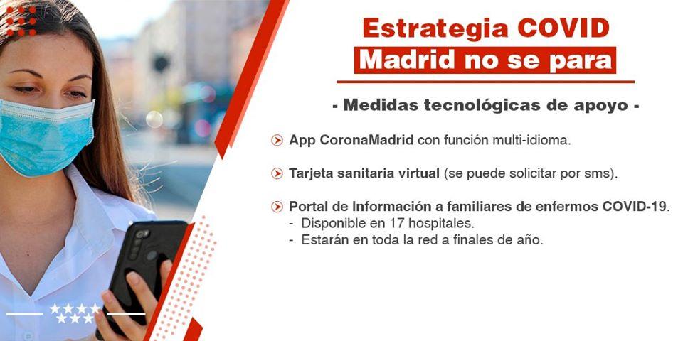 Madrid Covid-19 medidas tecnológicas apoyo