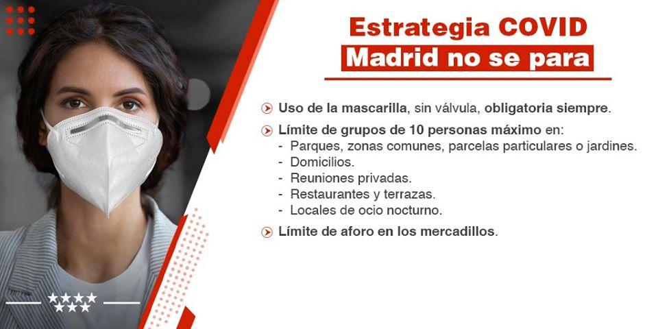 Madrid Covid-19 nuevas medidas julio 2020