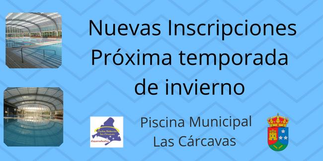Nuevas inscripciones invierno Piscina