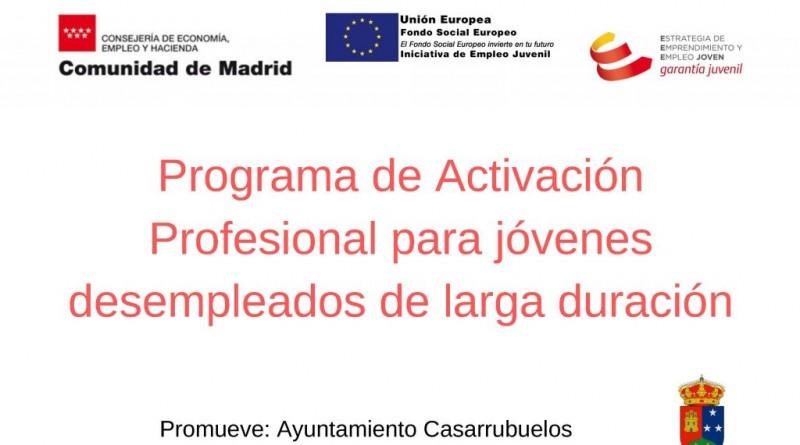 Programa de activación profesional para jovenes desempleados de larga duracion