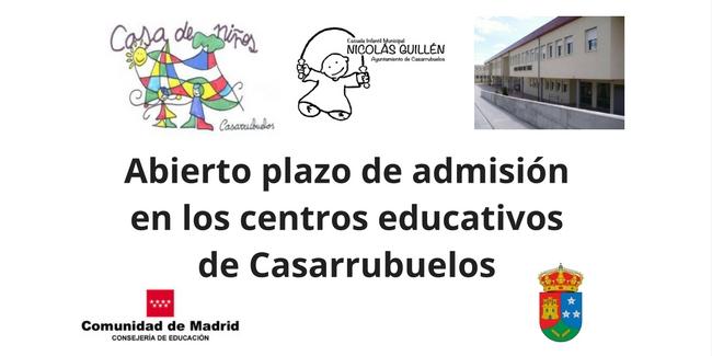 Abierto plazo de admisión en los centros educativos de Casarrubuelos