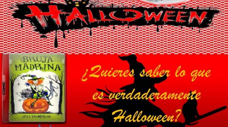 Cartel Halloween de la biblioteca