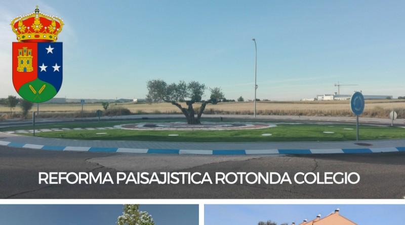 Reforma paisajistica rotonda sostenible