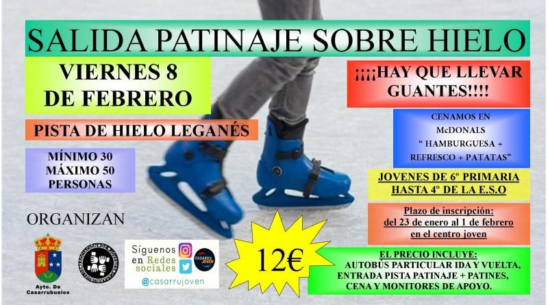 ocio juvenil patinaje sobre hielo Casarrubuelos enero 2019