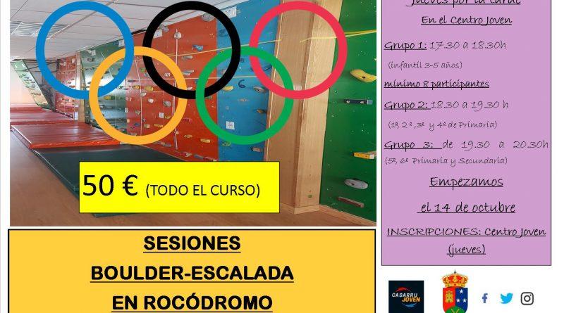 Sesiones boulder 2021-22 Casarrubuelos