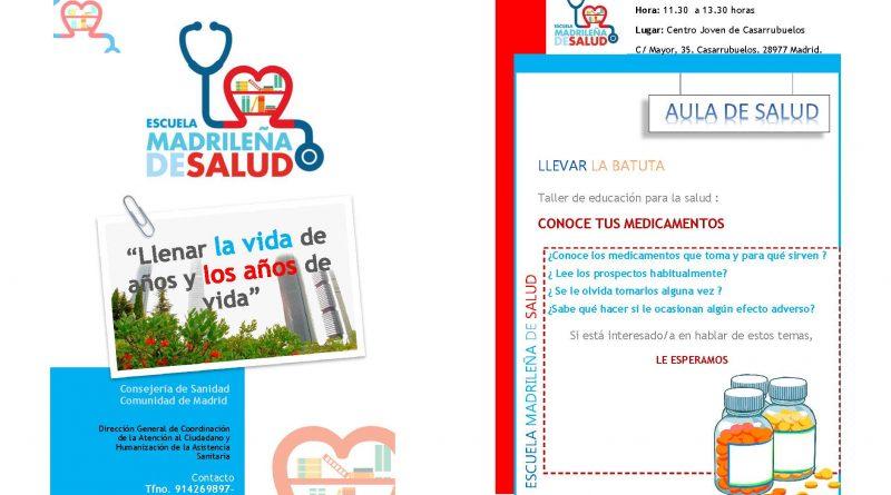 Taller mayores - conoce tus medicamentos Casarrubuelos_catálogo 1