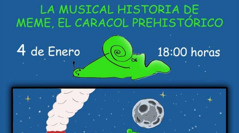 Cartel obra de teatro musical: meme el dinosarurio