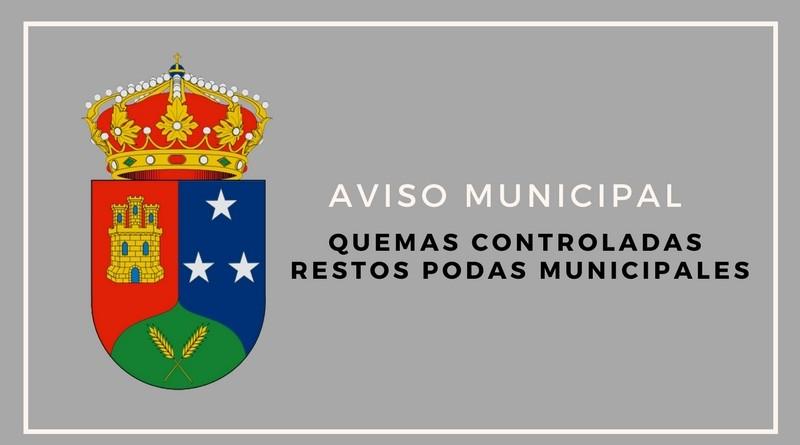 Aviso municipal: Quemas controladas de restos de podas municipales