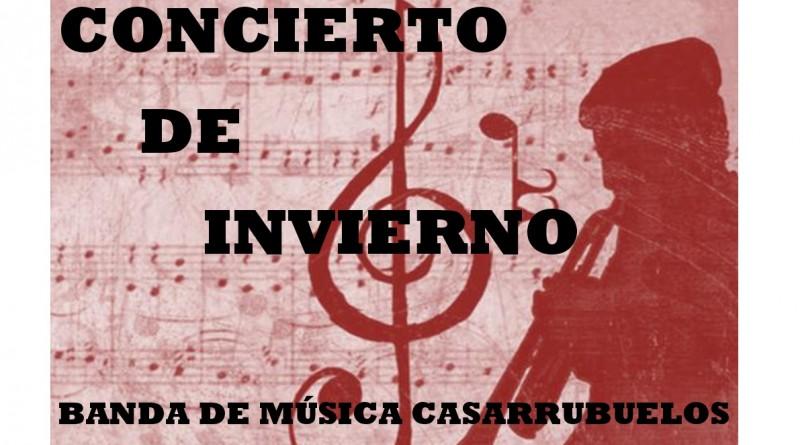 Cartel Concierto invierno Banda Música Casarrubuelos