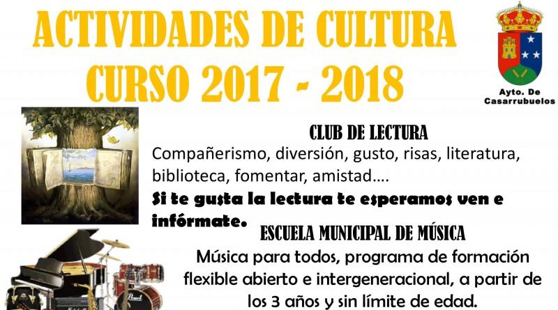 Cartel actividades de cultura curso 2017-2018