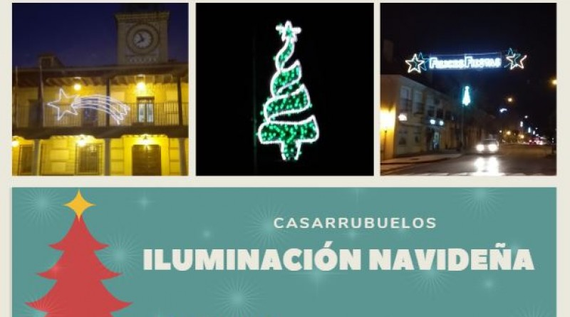 iluminacion navideña en Casarrubuelos