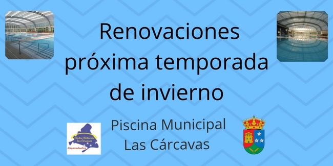 Renovaciones próxima temporada de invierno Piscina Municipal Las Cárcavas