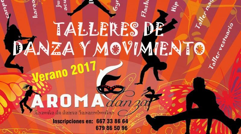Cartel talleres de verano danza y movimiento verano 2017